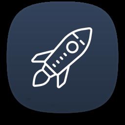 Rocket Icon Creative Designs